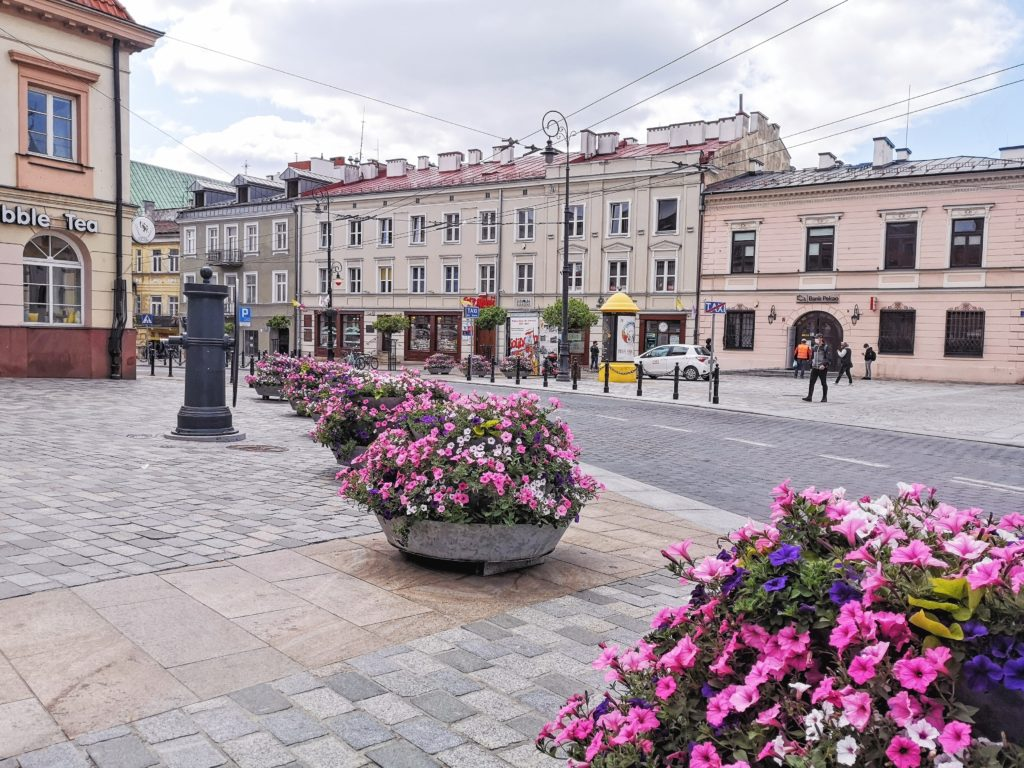 Wiosenna dekoracja miasta