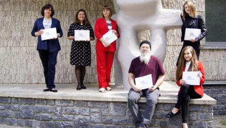 Od lewej: Violetta Dryło, Agnieszka Bąk, Izabela Pastuszko, Bogdan Bracha, Ilona Woźniak-Kostecka, Agnieszka Dudek